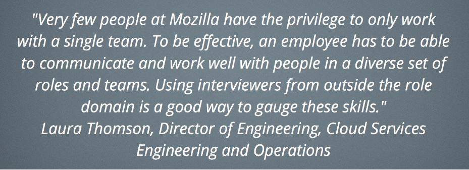 Laura's quote Participation in Hiring